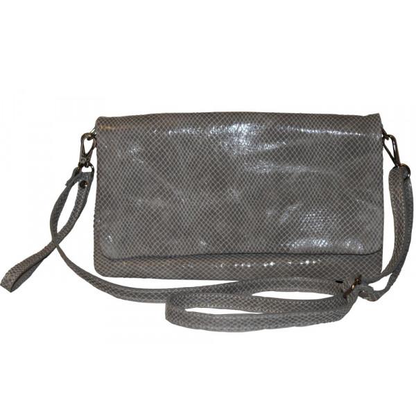 Клатч K0001.3 серый 29х17 (Натуральная кожа)