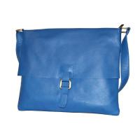 Планшет P0004.6 голубой 34х29 (Натуральная кожа)