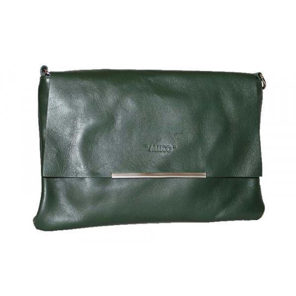 Клатч K0003.4 темно-зеленый 26х18 (Натуральная кожа)