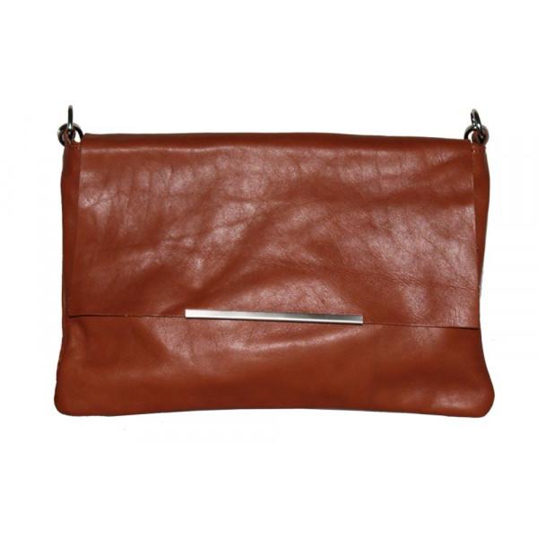 Клатч K0003.2 коричневый 26х18 (Натуральная кожа)
