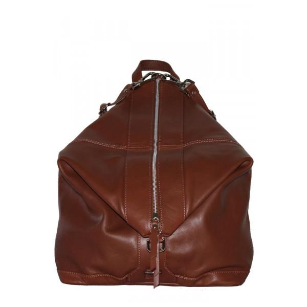 Рюкзак R0006.2 коричневый 31х35х14 (Натуральная кожа)