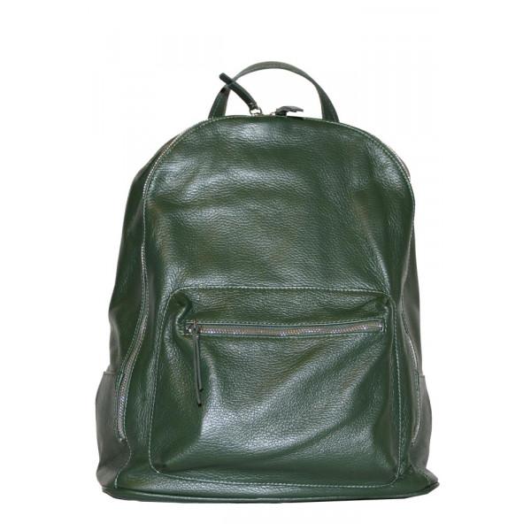 Рюкзак R0007.4 темно-зеленый 32х37х15 (Натуральная кожа)