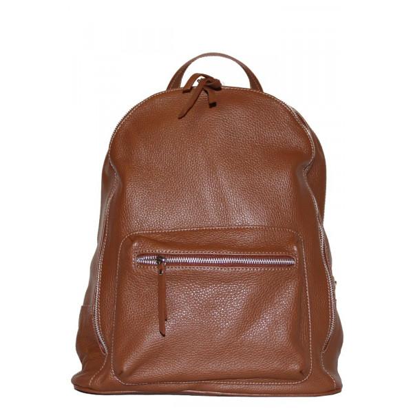 Рюкзак R0007.5 коричневый 32х37х15 (Натуральная кожа)