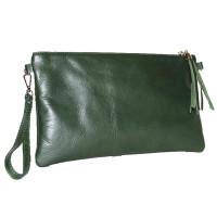 Клатч K0005.5 зеленый 30х17 (Натуральная кожа)