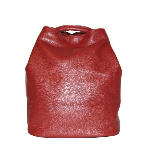 Рюкзак R0012.3 красный 24х30х18 (Натуральная кожа)