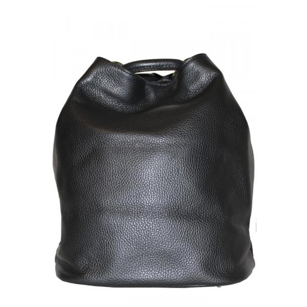 Рюкзак R0012.6 черный 24х30х18 (Натуральная кожа)