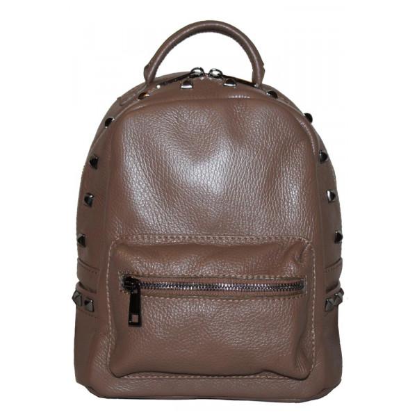 Рюкзак R0017.1 коричневый 21х24х12 (Натуральная кожа)