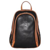 Рюкзак R0018.4 черно-рыжий 22x30x8 (Натуральная кожа)