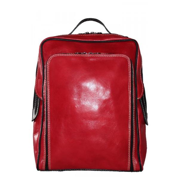 Рюкзак R0023.3 красно-черный 27х37х8 (Натуральная кожа)