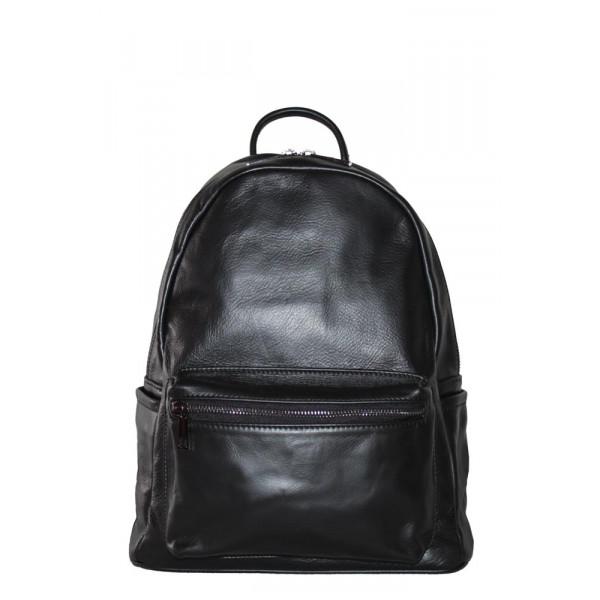 Рюкзак R0026.1 черный 27х32х13 (Натуральная кожа)