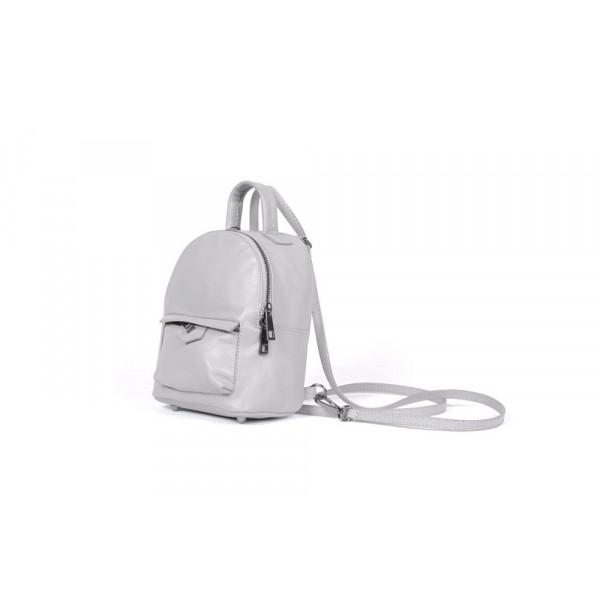 Рюкзак R0031.1 серый 20х16х10 (Натуральная кожа)