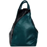 Рюкзак R0036.3 зеленый 23х33х13 (Натуральная кожа)