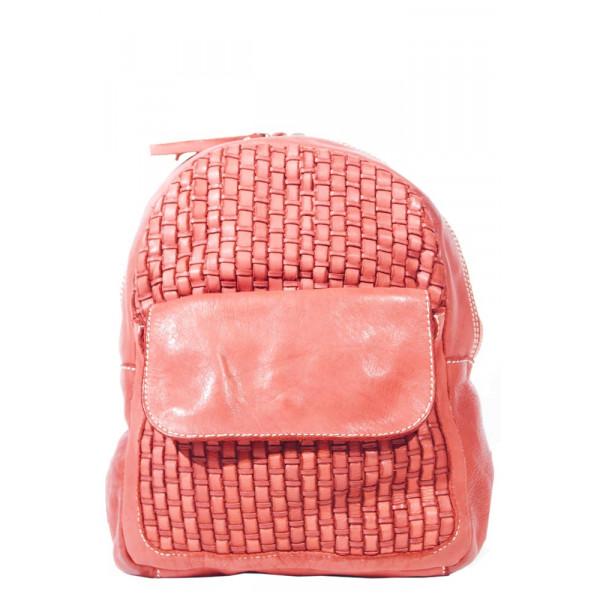 Рюкзак R0039.1 красный 20х25х9 (Натуральная кожа)