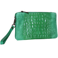 Клатч K0009.7 ярко-зеленый 22х14 (Натуральная кожа)