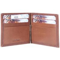 Зажим для денег Z0002.2 коричневый 11х8 (Натуральная кожа)
