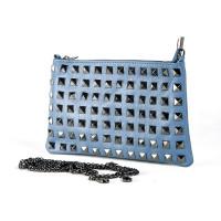 Клатч K0015.1 голубой 25х15 (Натуральная кожа)