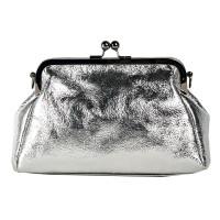 Клатч K0016.3 серебро 24х16х7 (Натуральная кожа)