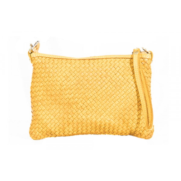 Клатч K0017.1 желтый 22х15 (Натуральная кожа)