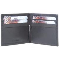 Зажим для денег Z0002.3 темно-коричневый 11х8 (Натуральная кожа)