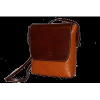 Сумка B0004.3 коричнево-рыжий 19х21х7 (Натуральная кожа)
