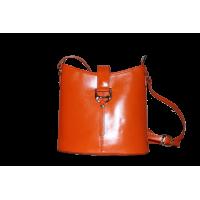 Сумка B0010.1 оранжевый 21х22х9 (Натуральная кожа)