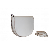 Сумка B0012.5 белый 22х20х6 (Натуральная кожа)