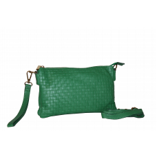 Клатч K0010.1 зеленый 25х15