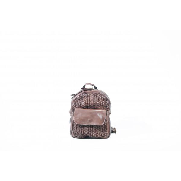 Рюкзак R0039.2 коричневый 20х25х9 (Натуральная кожа)