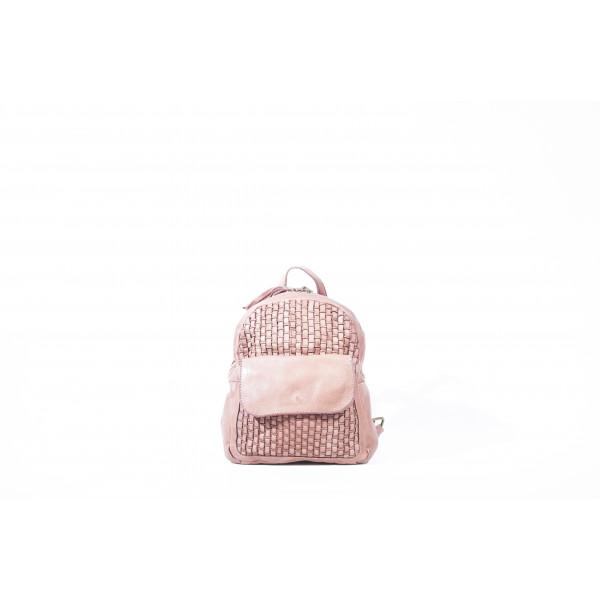 Рюкзак R0039.3 розовый 20х25х9 (Натуральная кожа)