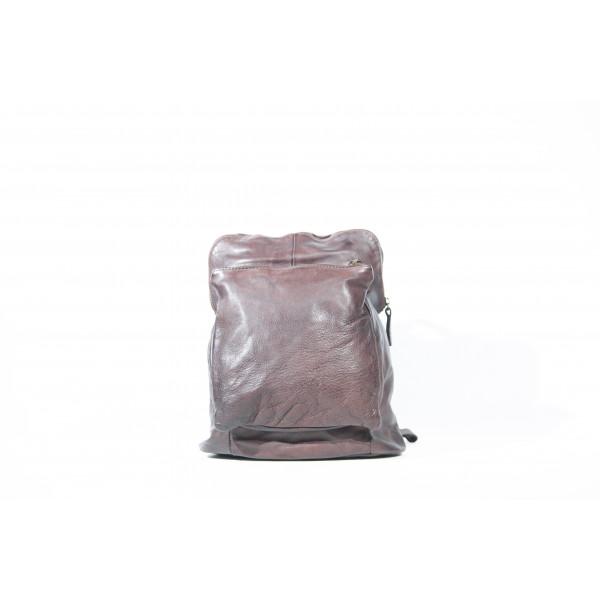 Рюкзак R0041.2 темно-коричневый 28х31х12 (Натуральная кожа)