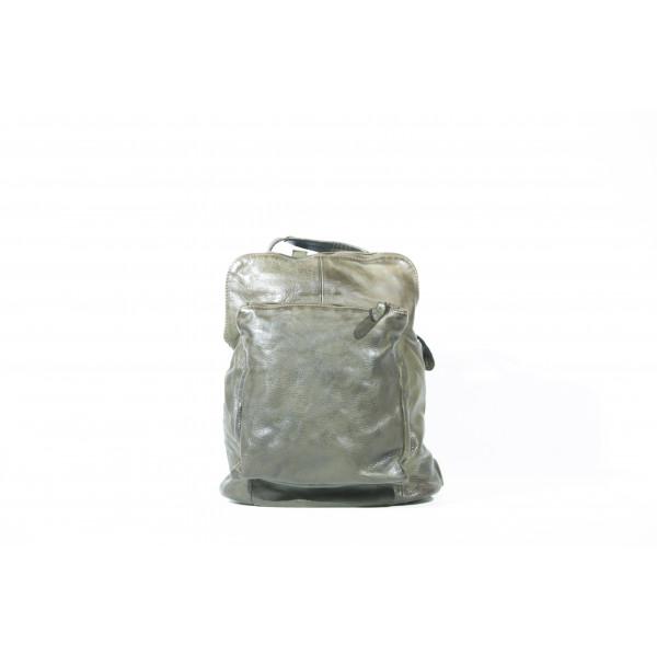 Рюкзак R0041.5 зеленый 28х31х12 (Натуральная кожа)