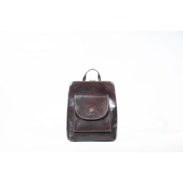 Рюкзак R0042.4 темно-коричневый 23х28х8 (Натуральная кожа)