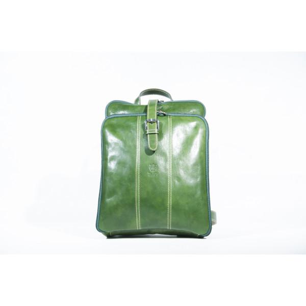 Рюкзак R0043.1 зеленый 27х34х9 (Натуральная кожа)