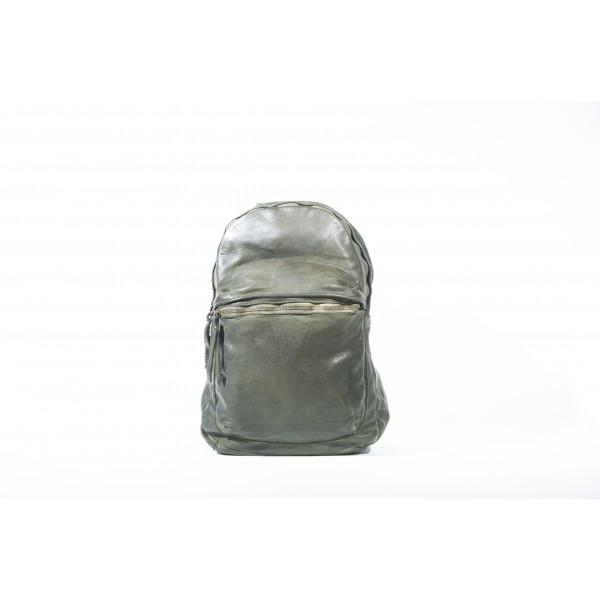 Рюкзак R0044.3 зеленый 25х32х12 (Натуральная кожа)