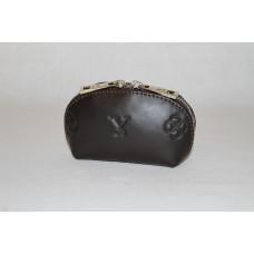 Ключница L0001.3 темно-коричневый 13х7х5 (Натуральная кожа)