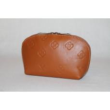 Косметичка C0001.5 светло-коричневый 20х12х6 (Натуральная кожа)