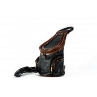 Сумка-трансформер T0010.1 черный 15х28х15 (Натуральная кожа)