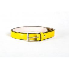 Ремень M0002.4 желтый 100х2,5 (Натуральная кожа-питон)