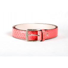 Ремень M0019.4 розовый (Натуральная кожа-питон)