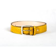 Ремень M0019.5 желтый (Натуральная кожа-питон)