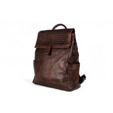Рюкзак R0025.3 темно-коричневый 28x36x10 (Натуральная кожа)