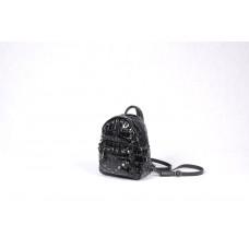 Рюкзак R0029.2 черный лак 21х18х9 (Натуральная кожа)