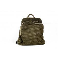 Рюкзак R0033.1 зеленый 25х28х11 (Натуральная кожа)