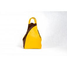 Рюкзак R0036.1 желтый 23х33х13 (Натуральная кожа)