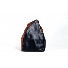 Рюкзак R0036.5 черно-коричневый 23х33х13 (Натуральная кожа)