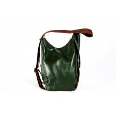 Рюкзак R0037.3 зеленый 23х33х13 (Натуральная кожа)