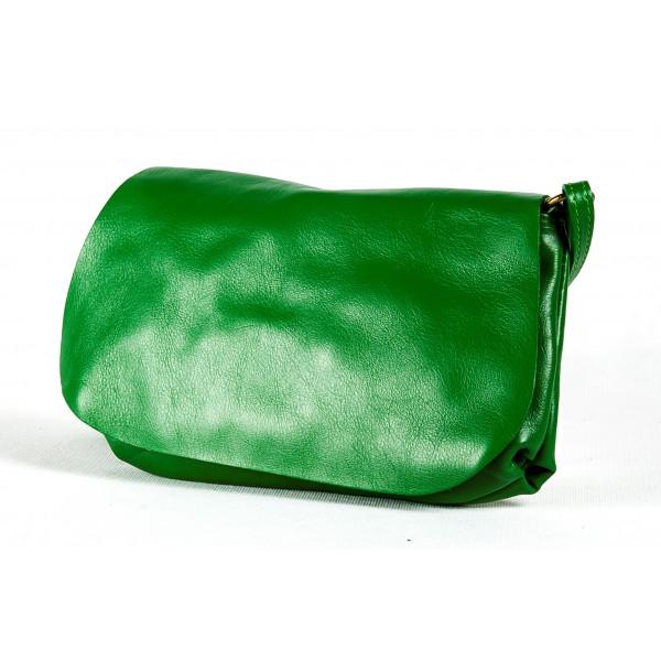 Сумка B0045.3 зеленый 25х15 (Натуральная кожа)