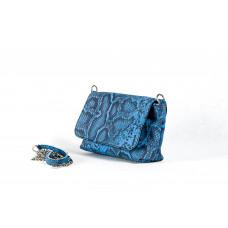 Сумка B0049.3 синий 19х14х7 (Натуральная кожа)