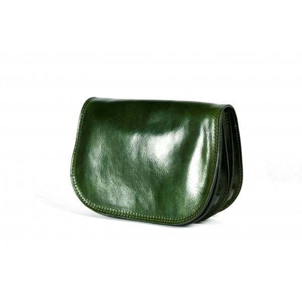 Сумка S0257.2 зеленый 25х18х9 (Натуральная кожа)