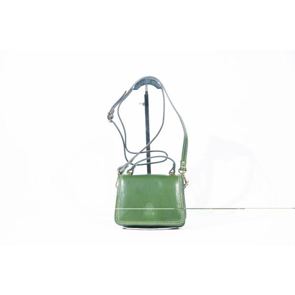 Сумка S0297.1 зеленый 17х12х9 (Натуральная кожа)